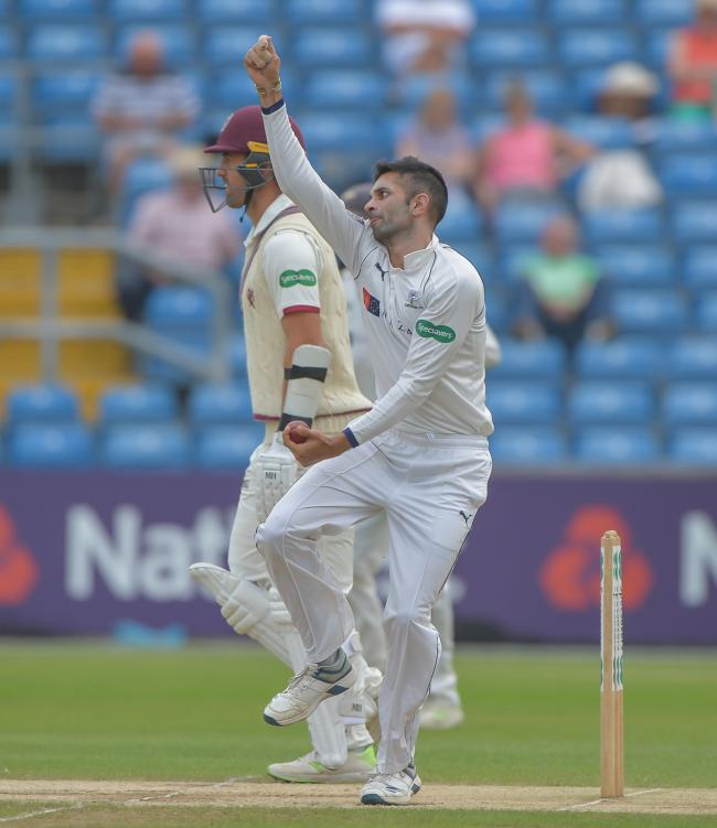 Keshav Maharaj took 6-95 as Yorkshire clinched victory over Nottinghamshire  Picture: RAY SPENCER