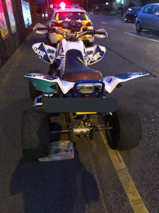 Quad bike driven in 'idiotic and dangerous way' in Bradford is seized