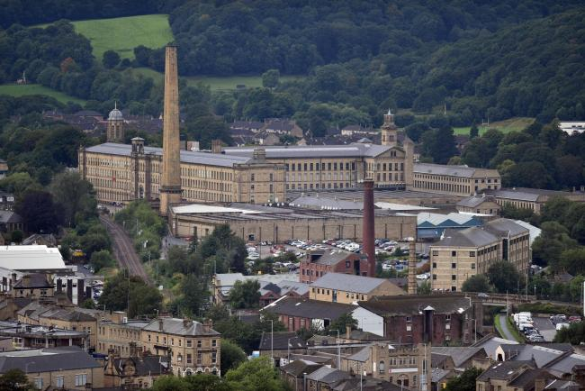 The chimneys that make up Bradford's industrial skyline are at risk and need to be protected.  Salts Mill.