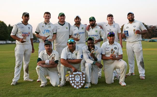 Crossflatts show off their Bradford Evening League Finals Day trophy last season     Picture: Alex Daniel