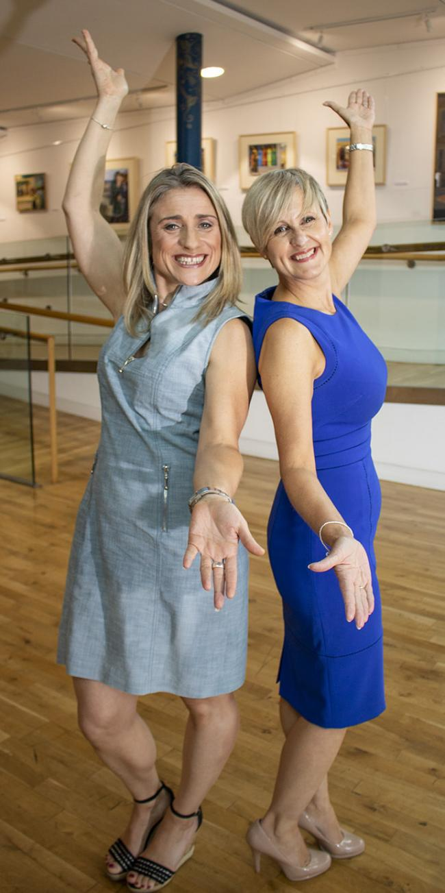 Charity partners Helen Linsell, artistic director of Dance United Yorkshire, and Bradford Chamber president Suzanne Watson at Kala Sangam
