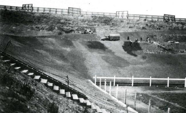 "Odsal continues to take shape, a year after the ""Wembley of the North"" finally opened in 1934"