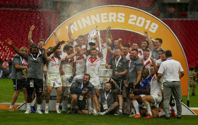 Sheffield Eagles, celebrate winning the 1895 Cup Final at Wembley in August, will visit Keighley Cougars for a friendly on Sunday, January 26