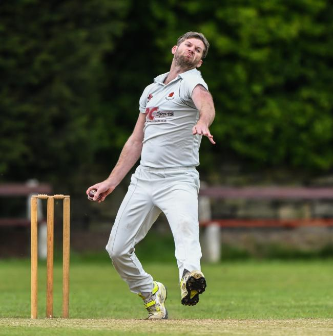James Lee is hoping to lead his Bankfoot side to the All Rounder Cricket Bradford Premier League Championship One title this weekend. Picture: Ray Spencer