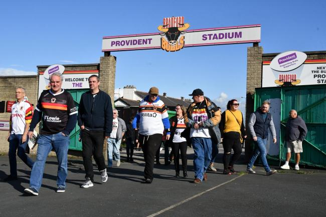 Many Bradford Bulls fans, several pictured here leaving Odsal stadium for the final time last month, have been left in despair by the latest takeover news
