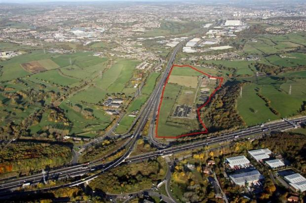 Bradford Telegraph and Argus: An aerial view of the former North Bierley waste water treatment site near the M606 and M62