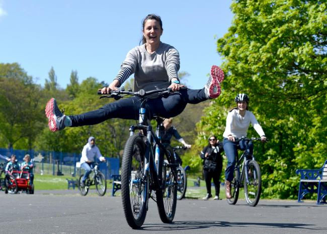 As part of a Women and Cycling Conference guests were invited to triy our Bicycle Ballet pictured.