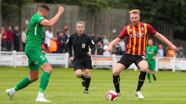 Brighouse Town in action against Bradford City during pre-season last year