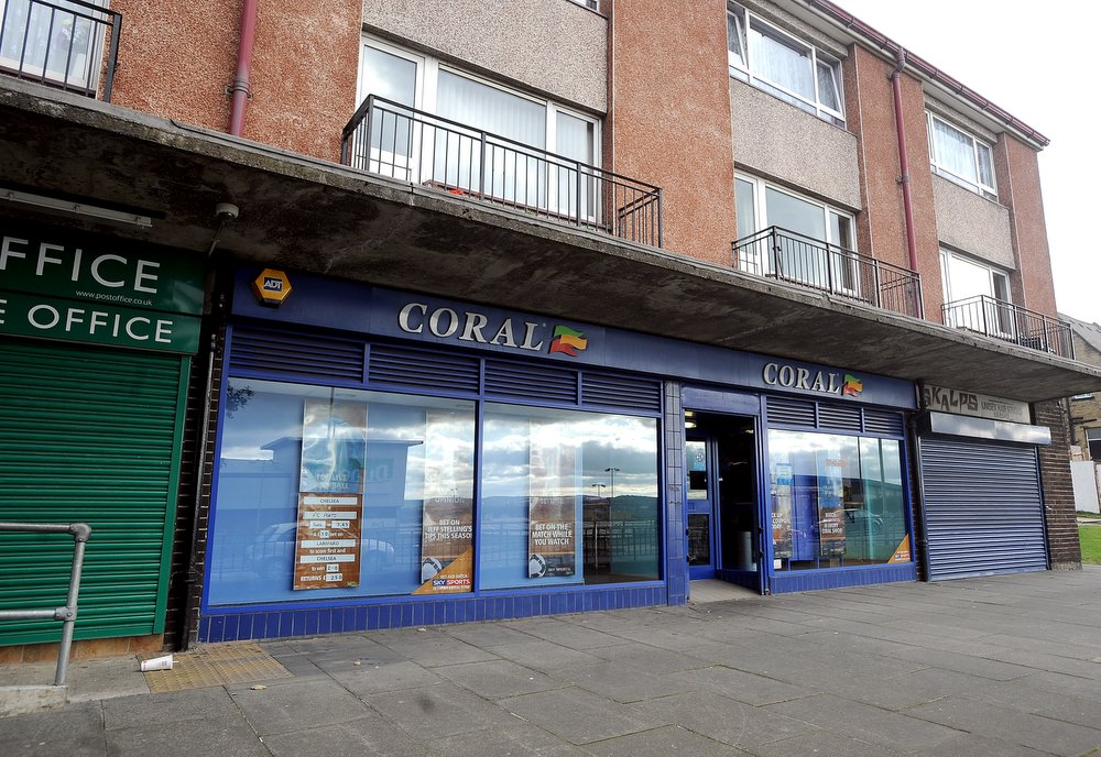 Scene of the armed raid at Coral bookmakers on Sticker Lane, Bradford