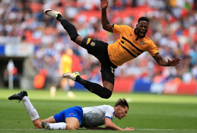 Newport County's Jamille Matt scored in his side's victory over Port Vale