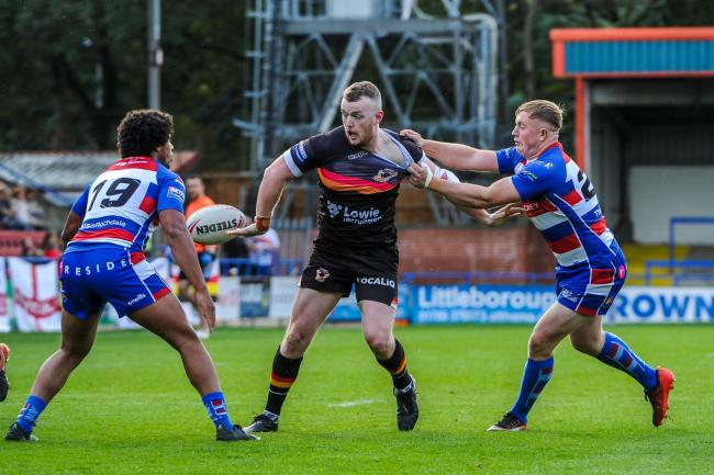 Bradford Bulls romped to an 82-0 victory at Rochdale Hornets. Picture: Tom Pearson