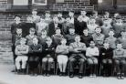 Akbal Singh Kang, front row, fourth from right, as a schoolboy. Pictures: Gurj Kang