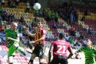 Anthony O'Connor in action against Forest Green, who frustrated City at Valley Parade. Pic: Thomas Gadd