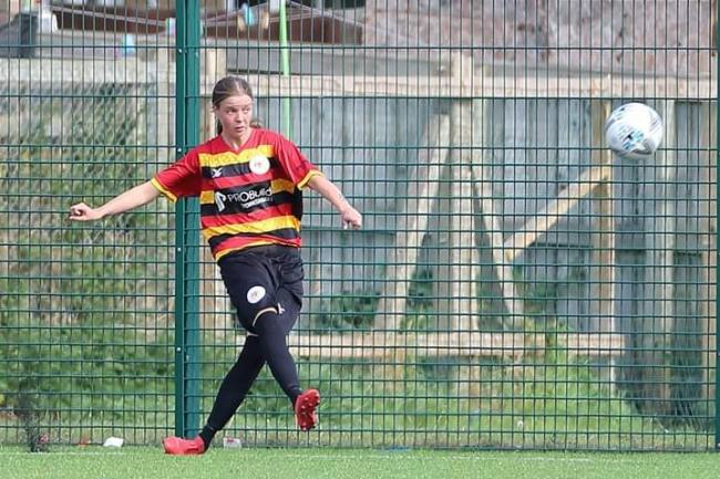 Millie West in action for Bradford Park Avenue Ladies