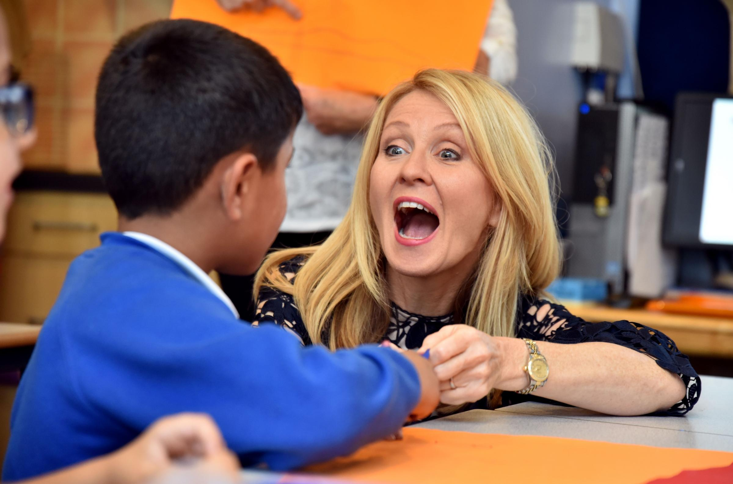 Feversham Primary School in Bradford visited by MP Esther McVey