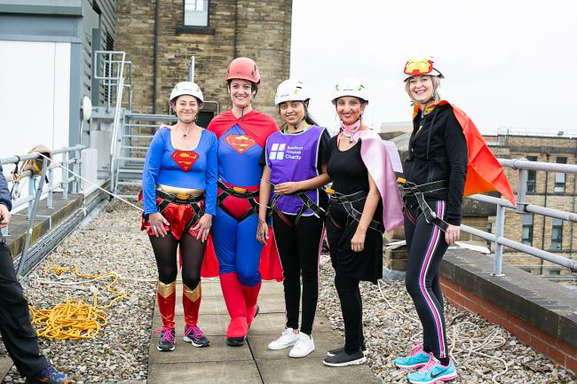 Superhero charity abseil at the BRI