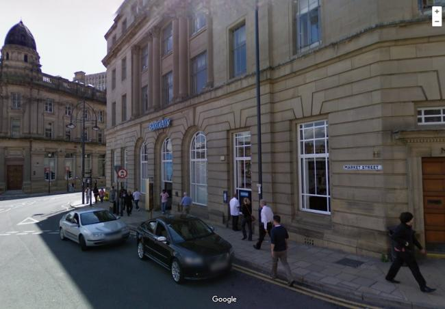 The Barclay's Bank in Market Street, Bradford where the incident occurred. Pic: Google Street View