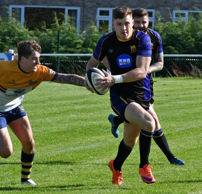 Max Trueman scored a fine late try for Salem Picture: Richard Leach.