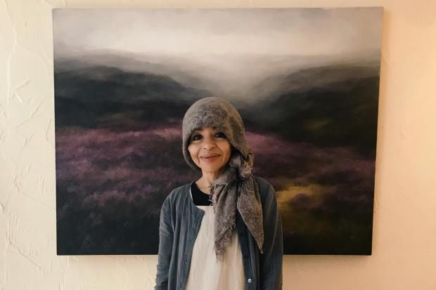 Judith Levin in front of one of her  paintings. Picture: John Siddique