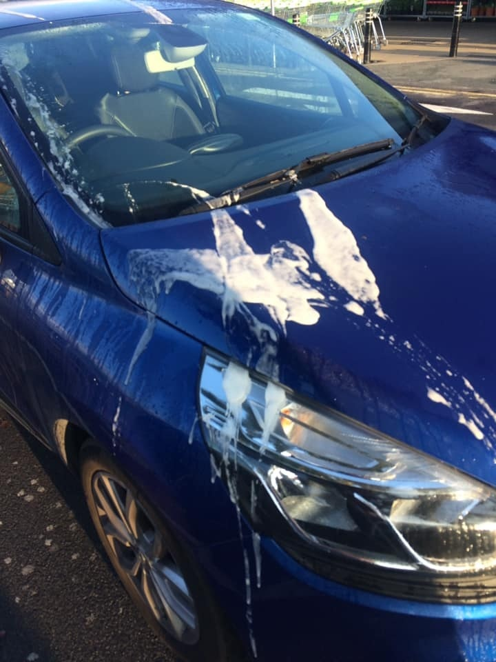 Shipley mum's Renault Clio covered in paint-stripper by vandal