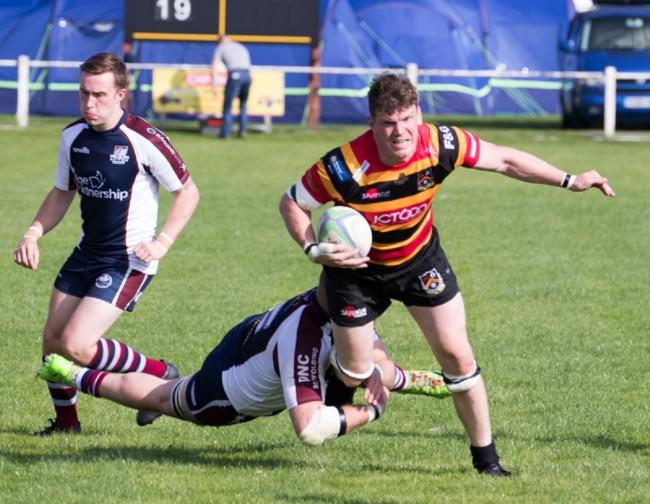 Bradford & Bingley captain Tom Booth scored a wonderful solo try late in the game against Huddersfield YMCA Picture: Graham Brewster
