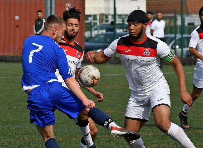 Route One Rovers (in white) drew with Leeds Medics & Dentists in their Yorkshire Amateur League Supreme Division midweek match. Picture: Richard Leach.