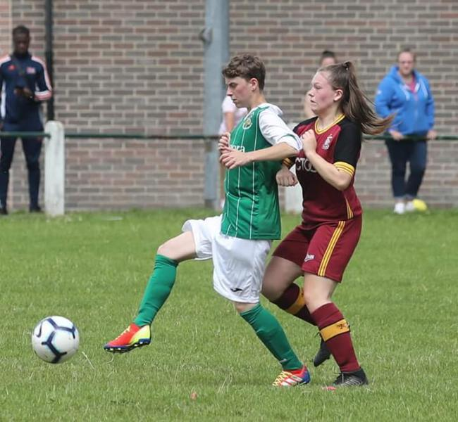Nat Bell (left) scored Avenue's fourth goal in their win over Harrogate Town Development at the weekend Picture: Alex Daniel