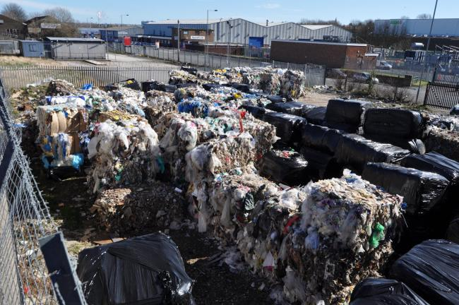 Illegally-stored waste on a site off Duncombe Road, Bradford. Pic: Environment Agency