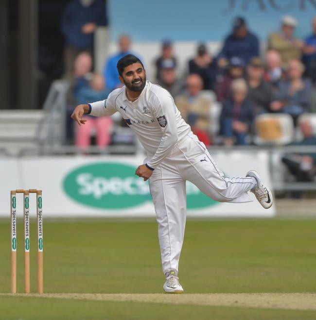 Ajaz Patel has had a tough debut for Yorkshire, conceding over 200 runs in the match   Picture: RAY SPENCER
