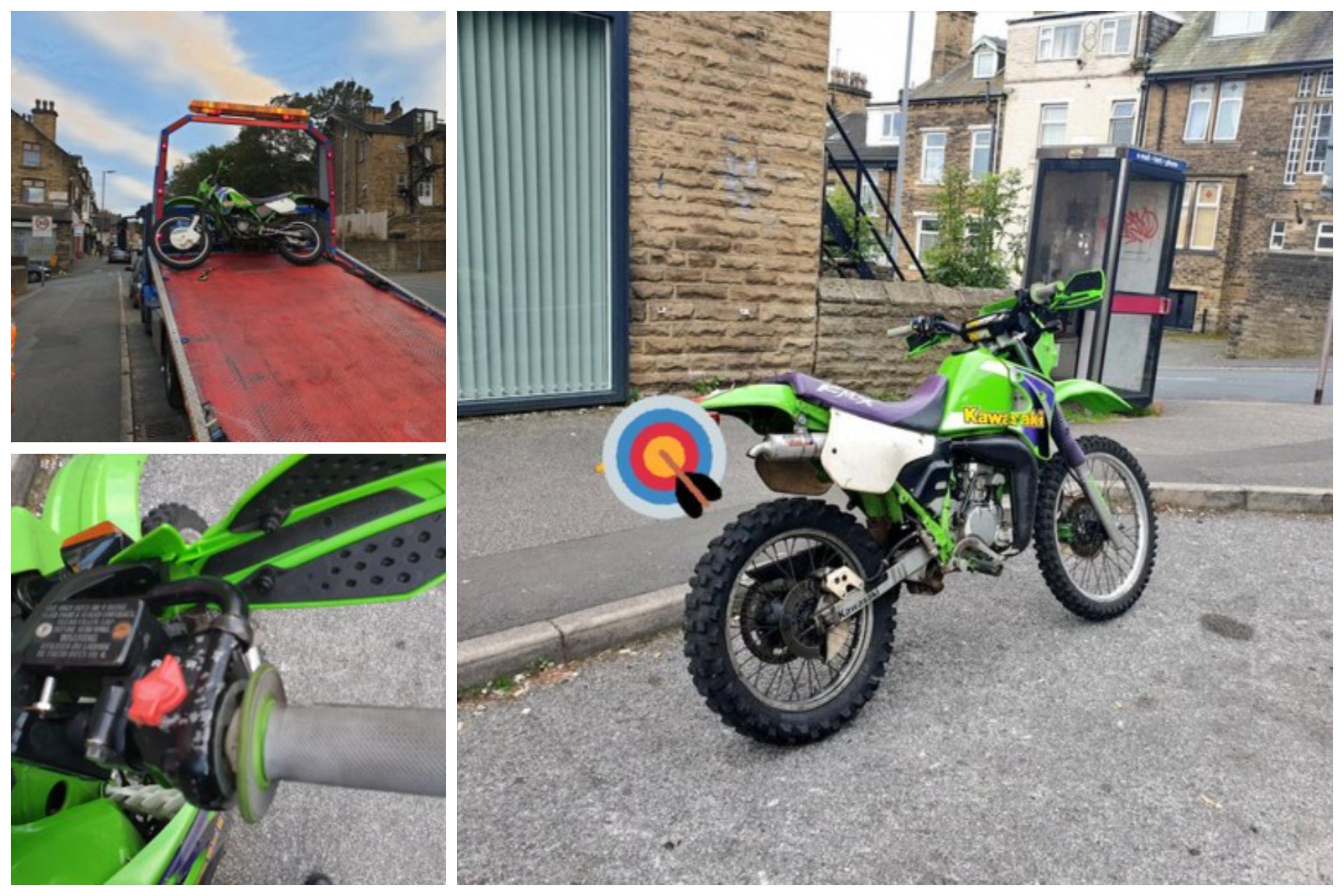 Police stop bike in Bradford