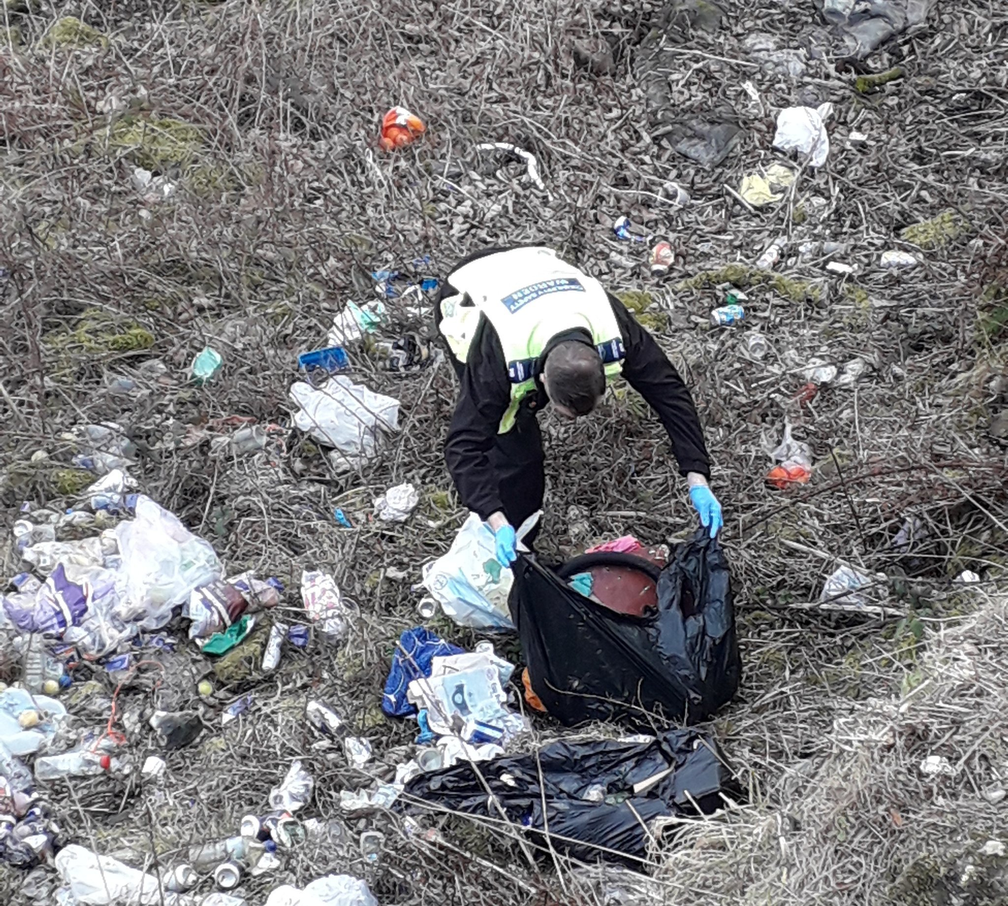 Household fined after their waste was fly tipped