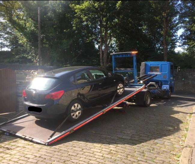 The Vauxhall hatchback that was seized
