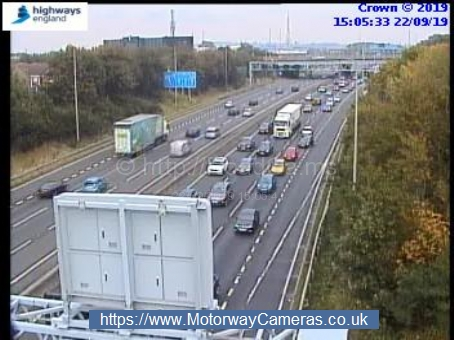 Motorhomes collision causes delays on M62