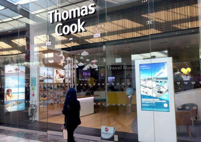 Thomas Cook has gone bust. The Store in the Broadway is closed