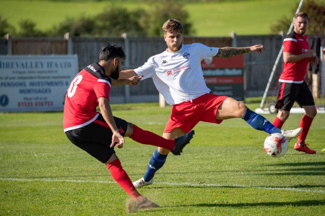 Adam Field (white shirt) in action for Yorkshire Amateur against Silsden last season Picture: David Brett