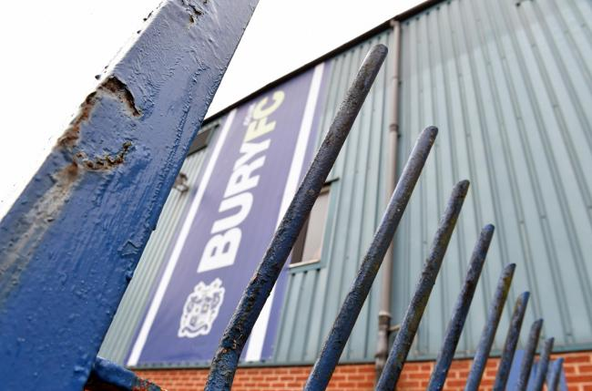 Bury will not be accepted back into the Football League next season