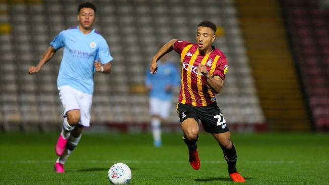 Adam Henley in action against Man City under-21s. Pic: Thomas Gadd