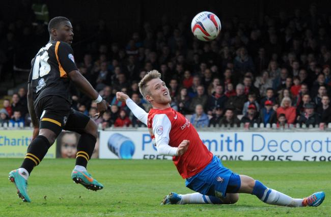 Will Hayhurst, pictured right during his York City spell, scored a dramatic late winner for Farsley