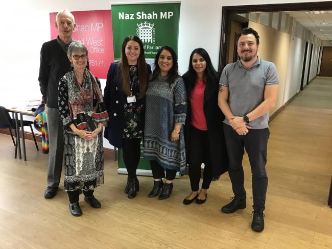 Naz Shah MP met representatives from the Green Lane, Miriam Lord and Westbourne Primary Schools to discuss climate change