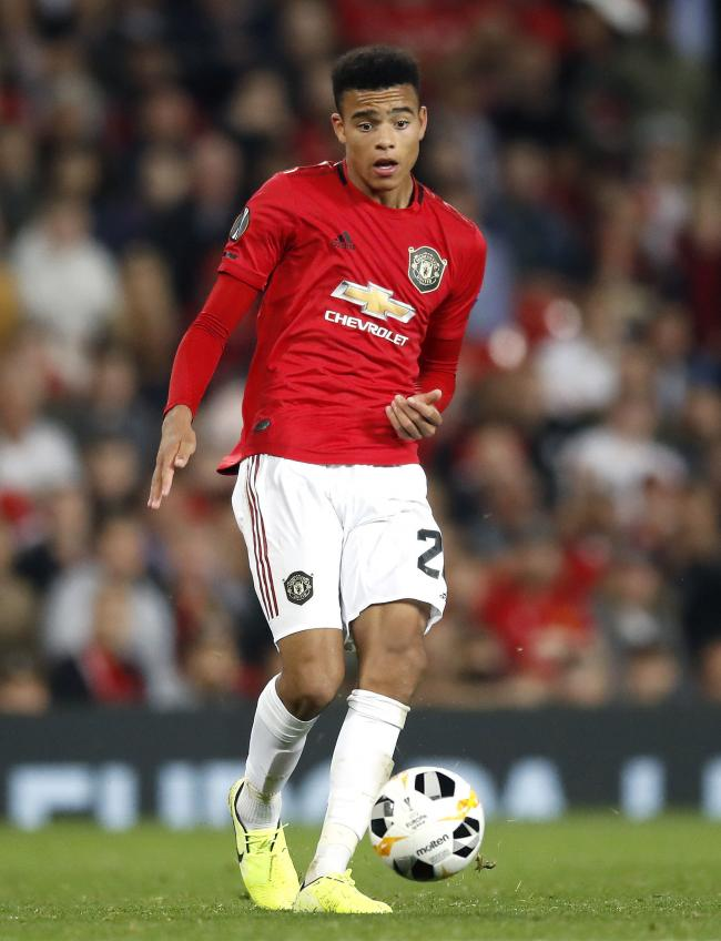 File photo dated 19-09-2019 of Manchester United's Mason Greenwood. PRESS ASSOCIATION Photo. Issue date: Monday October 7, 2019. Manchester United striker Mason Greenwood has pulled out of the England Under-21 squad due to a back injury, the Premier L