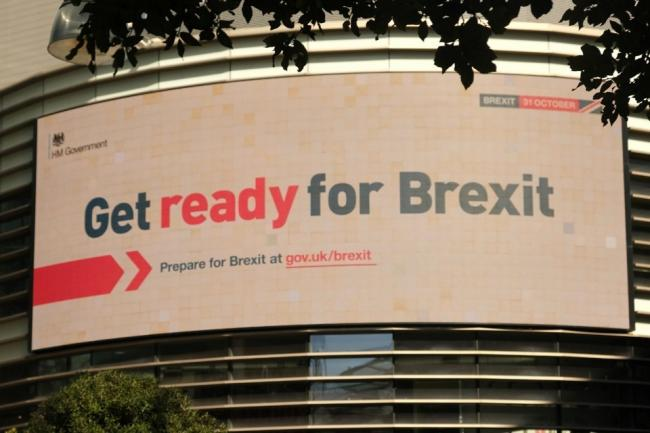 'Get Ready For Brexit', advises a billboard