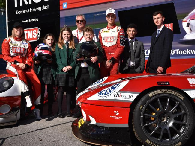 Moh Ritson a pupil at Woodhouse Grove school Moh and his Tockwith Motorsport team-mate, Sarah Moore left..