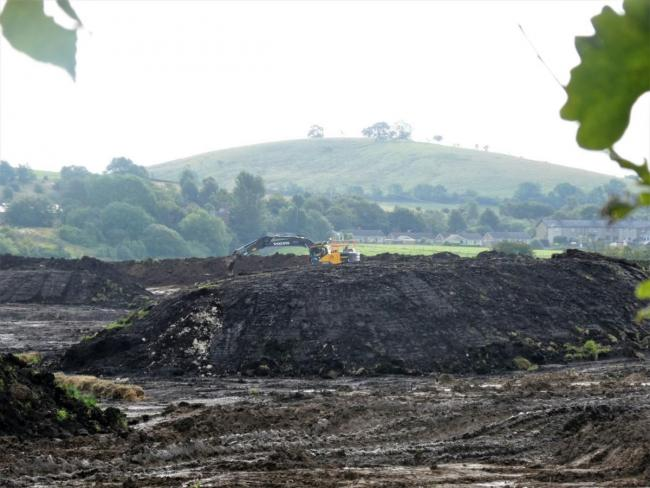 Hellifield flash. Work takes place near Gallaber pond. Picture Angie Pedley