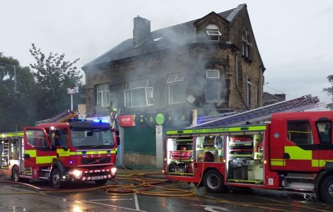 The scene of the fire (photo: West Yorkshire Fire & Rescue Service).