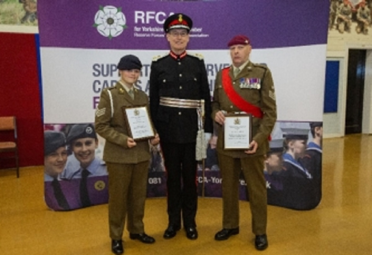 Bradford army cadet and reservist receive honours