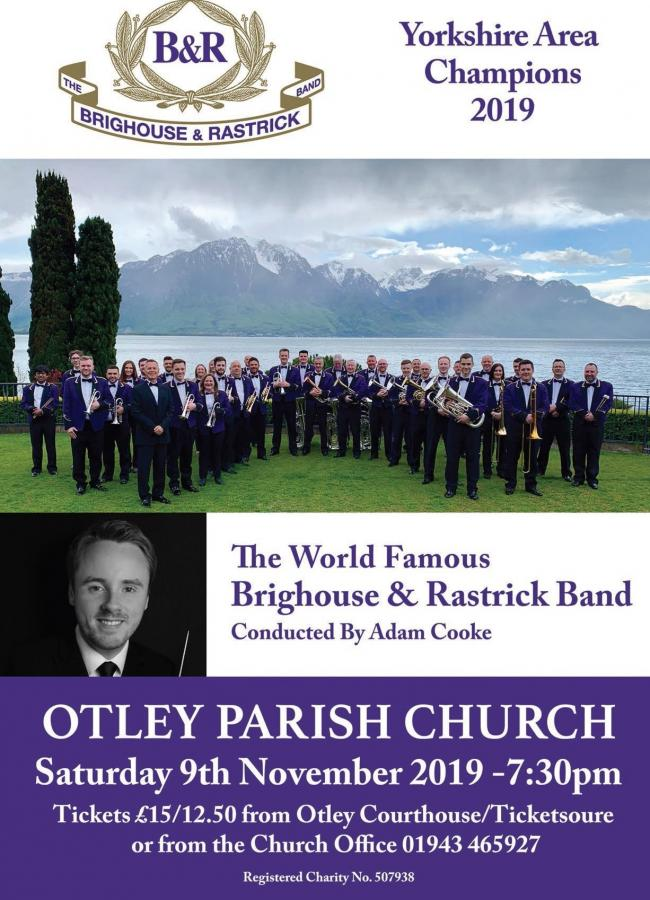 The publicity poster for Brighouse and Rastrick Band's forthcoming Otley show