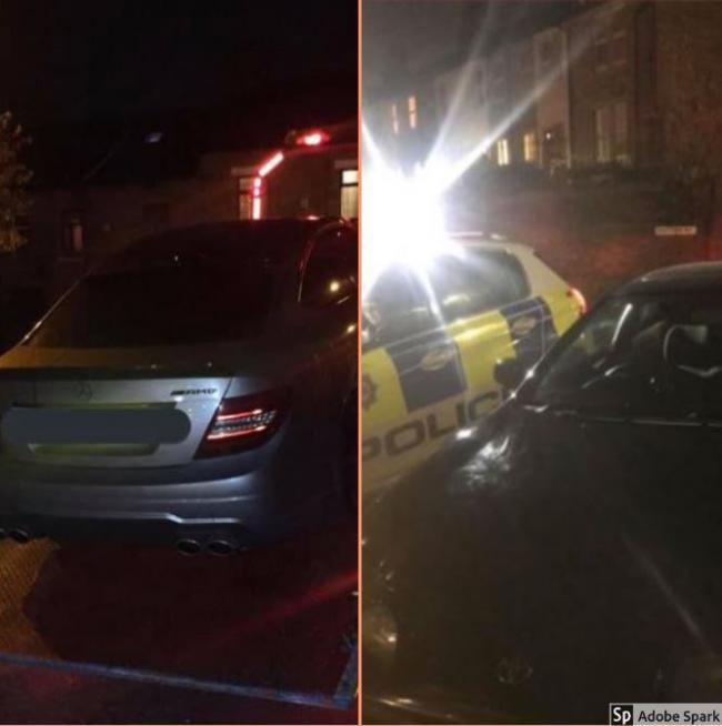 The two cars involved in crimes on the roads of Bradford West