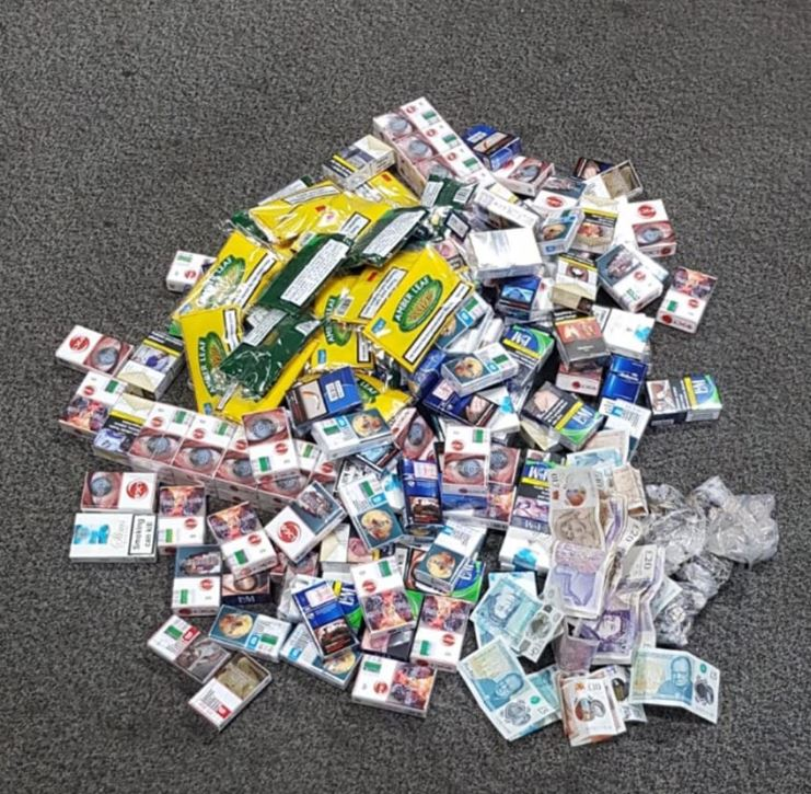 Haul of fake cigarettes and tobacco seized by police