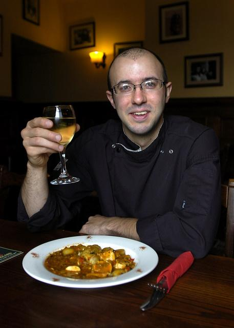 Andy Barbato loves creating traditional British dishes at The Fleece