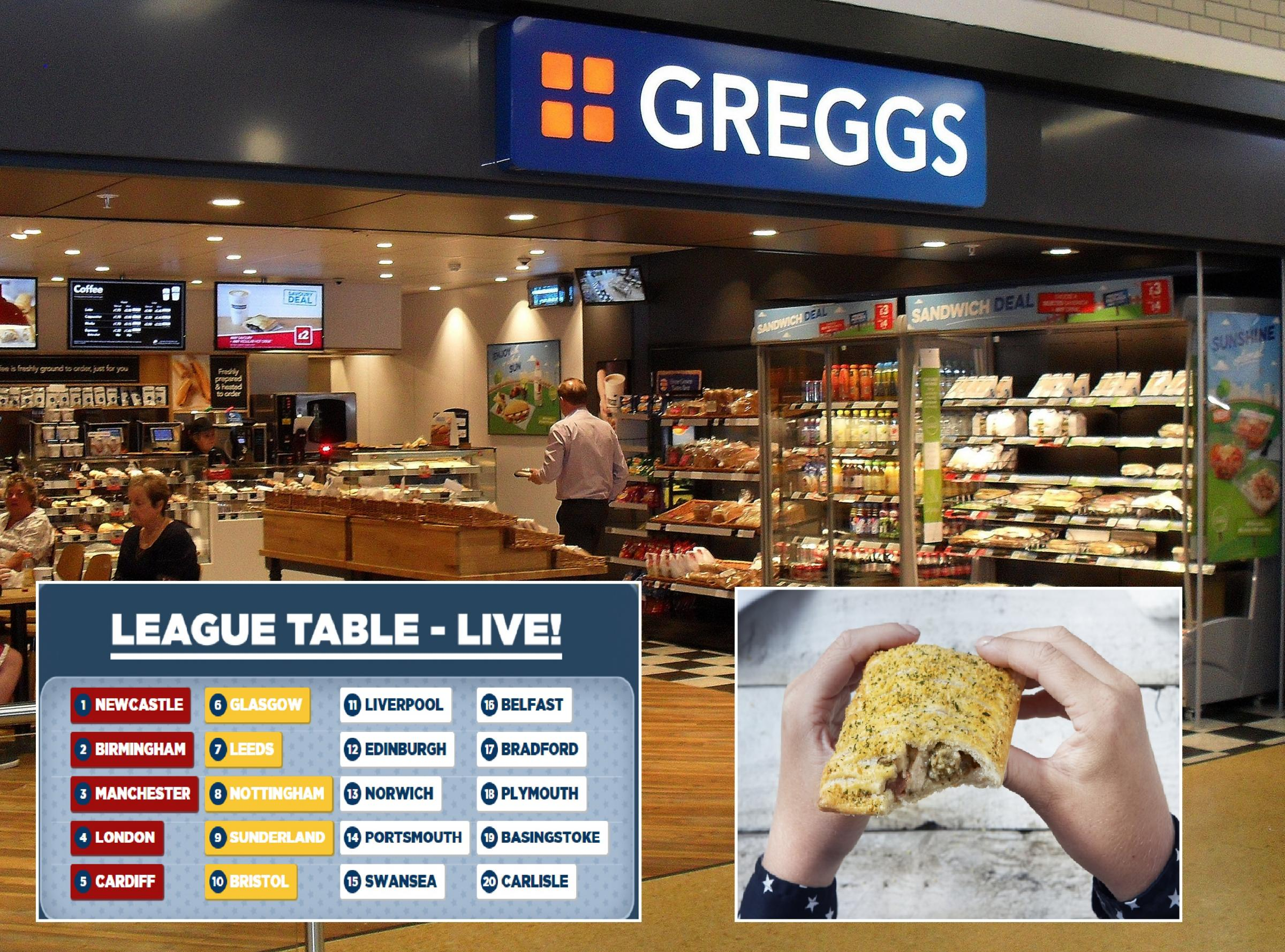 Greggs offering Festive Bake early but Bradford needs your vote